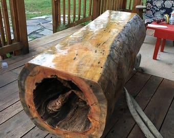 Rustic coffee table raw wood table
