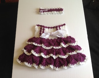 Little summer skirt with Ruffles with headband matches