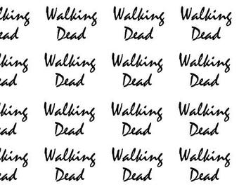 Walking Dead Inspired Typography Planner Stickers