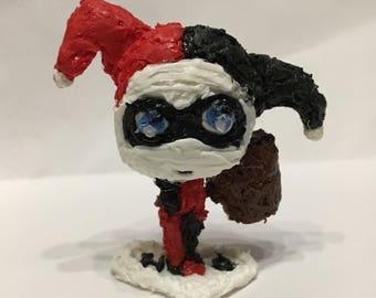 Little figurine of Harley Quinn handmade