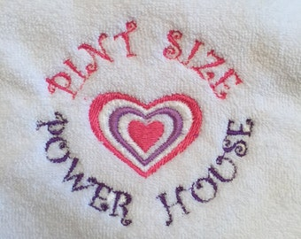Embroidered Baby Bib - Pint Size Power House