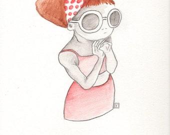 personalized portrait, watercolor