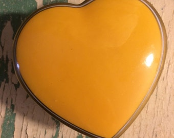 Yellow Heart Trinket Box•Valentine Day•Boite à objet•Caixa do trinket