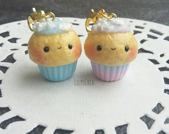 Cupcake Kawaii cloud polymer clay