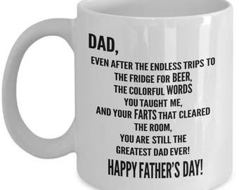 Funny Coffee Mug - Happy Father's Day - Father's Day Mug - Custom Coffee Mugs - Gift For Dad - Father Gift