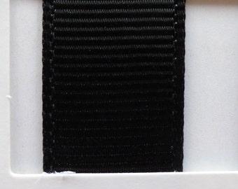 """3/8"""" / 10mm Solid Grosgrain Ribbon BLACK #030 X 2 METERS"""