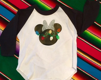 Custom Mickey Mouse or Minnie Mouse Christmas shirt - Disney Christmas Shirt- Disney Shirt- Add a name for FREE