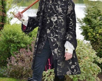 Male 17th Century Frock Coat and Waistcoat. Steampunk/Gothic.