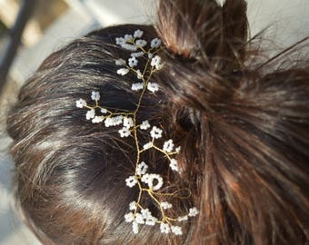 Gold - Wedding Bridal Hair Piece