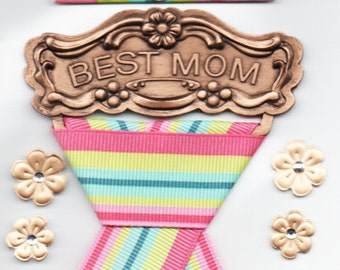 Best  Mom Mother  Jolee's Boutique Scrapbook Stickers Embellishments Cardmaking Crafts