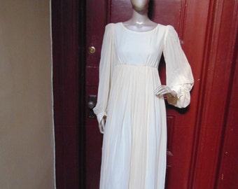 Silk Empire Waist Dress
