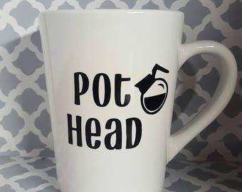 Pot head coffee mug, pot head, bestfriend gift