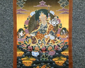ANTIQUE TIBETAN THANKA BUddhist painting