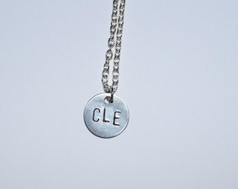 CLE Handstamped Charm Necklace