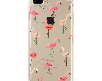 Flamingo iPhone 7 Case, iPhone 6 case, iPhone 6s case, iPhone 6s plus transparent clear silicone chic case, summer iPhone case, top selling