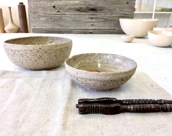 Set of 2 bowls, mixing bowls, Rural bowl, Serving bowl, small bowl, decorating bowl, Modern bowl, modern ceramic, gray bowl, condiment bowl