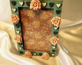 Boho look floral frame