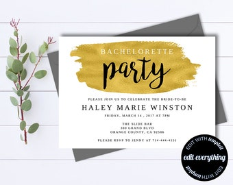 Printable Bachelorette Party Invitation Template - Printable Bachelorette Invite - Bachelorette Weekend - Instant Download Bachelorette Card