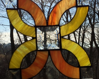 Suncatcher, Stained, Glass, Knot with Bevels