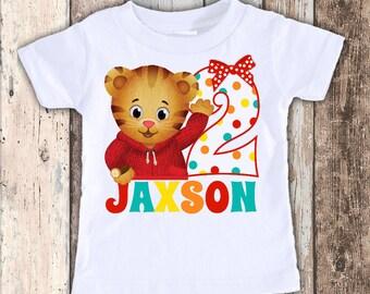 Girls Daniel Tiger 2 Inspired custom designed birthday t shirt tshirt personalized