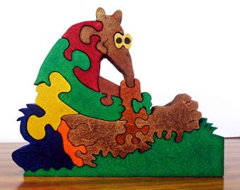 Anteater (12 pieces) wooden puzzle