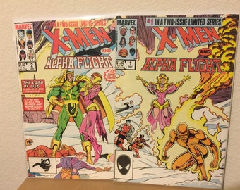 Marvel Comics X-Men and Alpha Flight complete limited series.
