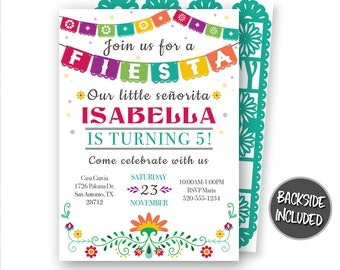 Birthday Mexican Fiesta Party Invitations Printable