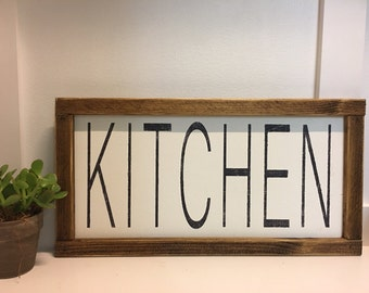 12x24 hand painted wood sign kitchen farmhouse rustic