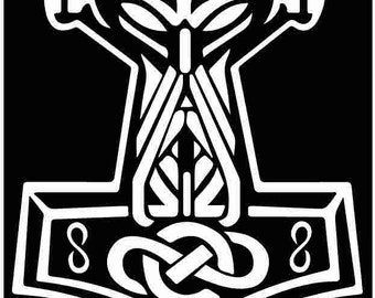 In Odin We Trust Thor Vikings Hammer Norse  vinyl die cut sticker decal