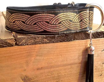 """Martingale Collar - for Greyhounds, Whippet,  Saluki, Lurcher type dogs - 35mm wide, up to 13"""" neck"""