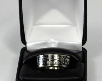 Men's Coin Ring - 1907 Barber Half Dollar Coin Ring - Size: 11.25