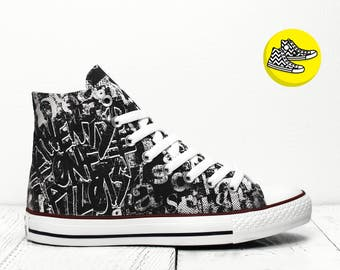 Twenty One Pilots custom Hi top Converse all star sneakers casual handmade painted shoes