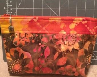 Beautiful batik make up bag