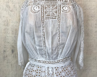 Vintage Antique Edwardian lace blouse