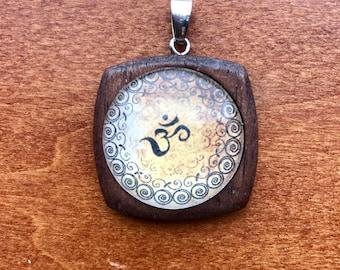 Namaste' Om yoga pendant