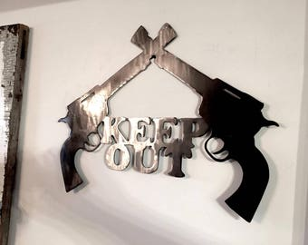 Revolver Keep Out Sign