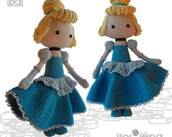 crochet pattern doll,doll crochet pattern,amigurumi pattern,amigurumi girl,crochet doll,Cinderella,crochet Princess,amigurumi toys,baby gift