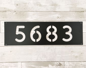 House Number Sign - Metal House Number - Metal Sign - House Numbers