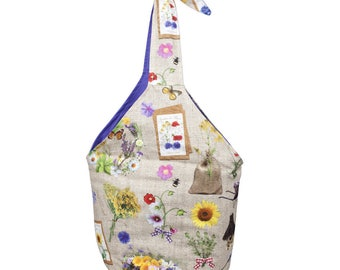 "Bag trend bag ""garden of love"", practical and functional shoulder bag to turn, inner compartment"