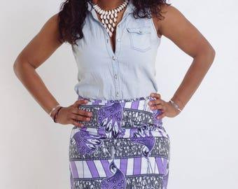 ankara skirt african skirt straight  wax