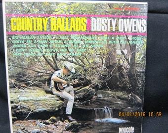 Country Ballads Dusty Owens - Wyncote Records