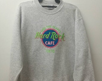 Embroidered HARD ROCK CAFE Sweatshirt Medium Size
