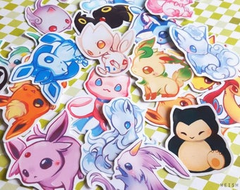 Pokemon and League of Legends Hand Cut Vinyl Sticker