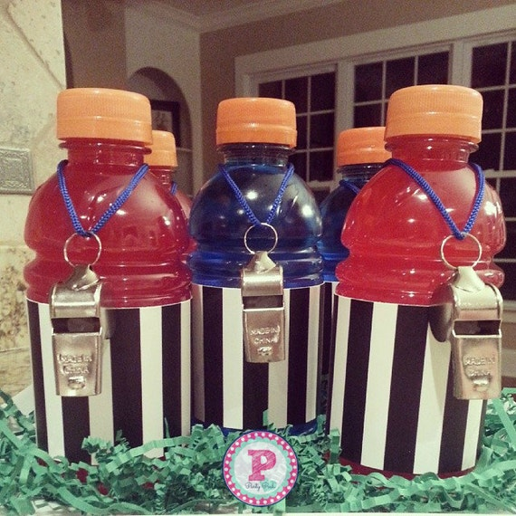 Gatorade Super Bowl Towel: Football Party Referee Drink Wraps Bottle Labels Super Bowl
