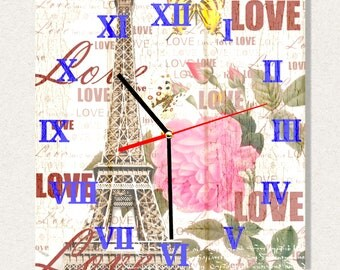 THE BEST Wall Clock Paris France Love, Best Gift for Home Decor