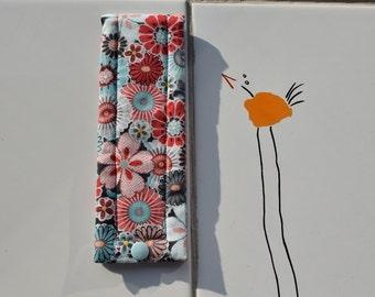 """Single pen case """"Pink flowers"""""""