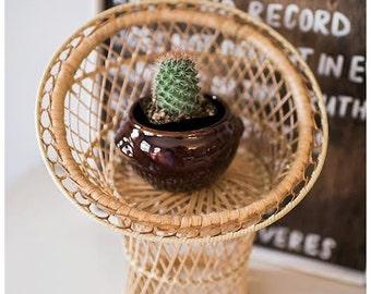 Stoneware Planters   Cactus Planter  Vintage Planters   Small   Brown Planter   Succulent Planter