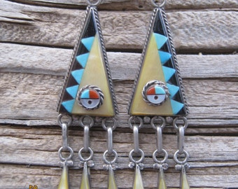 1970's Zuni Earrings-On Sale!