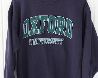 90's Vintage OXFORD UNIVERSITY Sweatshirt Oxford England Size Small