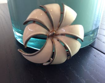 Totally Vintage White Brooch